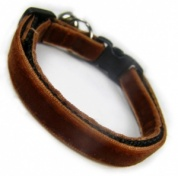 Caramel Velvet Cool Cat Collar