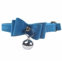 Caribbean Velvet Bow Bell Cat Collar