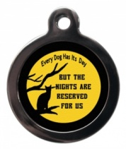 The Night is for Cats Cat ID Tag