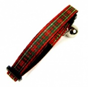 Christmas Tartan Cat Collar