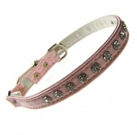 Pink Croc Crystal Cat Collar