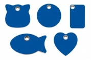 Dark Blue Plastic Engraved Cat Tags by Red Dingo