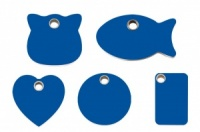 Dark Blue Plastic Cat ID Tags