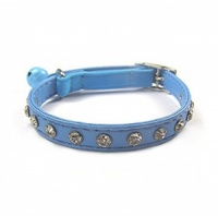 Azure Bling Cat Collars