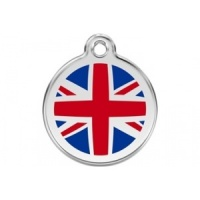 Union Jack Cat Tag by Red Dingo