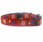 Edelweiss Heart Red Cat Collar