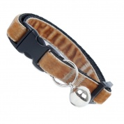 Fudge Brown Velvet Cool Cat Collar