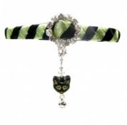 Glamorous Cat Collar - Lime Cat
