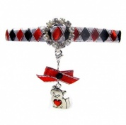 Glamorous Cat Collar - Red Kitten