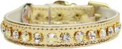 Deluxe Cat Collar | AB Diamante & Gold Metallic
