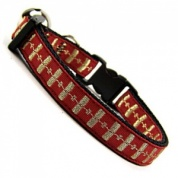 Gold Metallic Stripe and Red Cat Collar