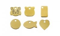 Gold Colour Engraved Cat Tags