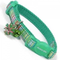 Green Luxury Small Kitten Cat Collar by Ancol