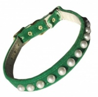 Green Pearl Cat Collar