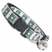 Extra Long Green Lantern Cool Cat Collar