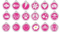 Hot Pink Engraved Cat ID Tags