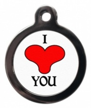 I Love You Cat ID Tag