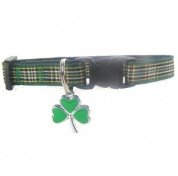 Irish Cat Collar | Tartan and Shamrock