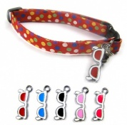 Jazzy Shades Cat Collar with 5 Interchangeable Charms