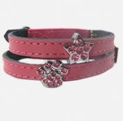 Charm Cat Collar - Pink Leather