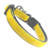 Lemon Yellow Velvet Cool Cat Collar