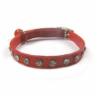Lipstick Red Bling Cat Collars