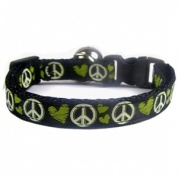 Love and Peace Cat Collar | Green