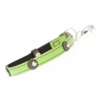 Moet Lime Leather Cat Collar