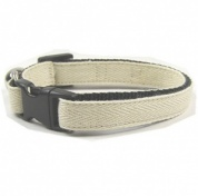 Natural Herringbone Cat Collar
