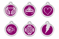 New Red Dingo Cat Tags - Purple