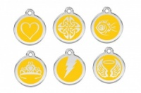 New Red Dingo Cat Tags - Yellow