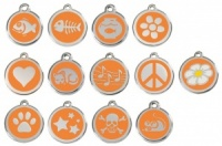 Orange Engraved Cat ID Tags