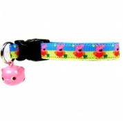 Peppa Pig Collar for Cat with Pig Bell
