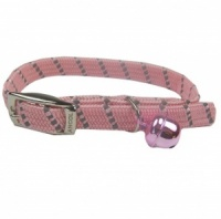 Pink Elasticated Softweave Cat Collar by Ancol