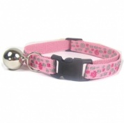 Pretty Pink Soft Embroidered Nylon Cat Collar