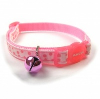 Ancol Pink Dotty Cat Collar