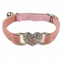 Dusky Pink Sweetheart Cat Collar