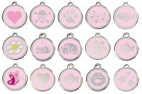 Pink Engraved Cat ID Tags