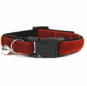 Velvet Kitten Collar | Small & Soft | Red