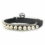 Posh Pearl Cat Collar | Black