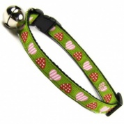 Primitive Heart Cat Collar | Lime