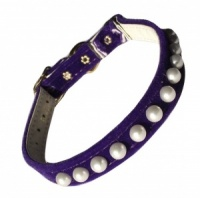Purple Pearl Cat Collar