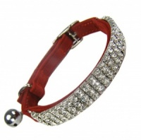 Posh Bling Cat Collar - Red