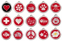 Red Engraved Cat ID Tags