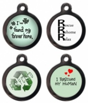 Rescued and Rehomed Cats Cat ID Tag