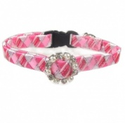 Fancy Cat Collar - Silvery Pink