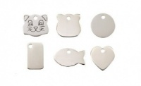 Silver Colour Engraved Cat Tags