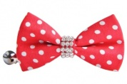 Red Spotty Bow Tie Cat Collar