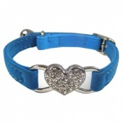 Blue Sweetheart Cat Collar