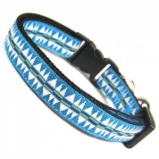 Teal Tribal Collar for Cat